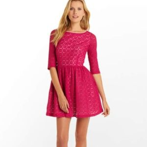 Lilly Pulitzer Pink Lace Alicia Dress